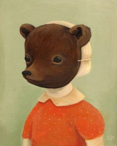 Emily Winfield Martin's painting Bear Disguise