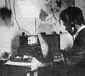 The first Czech radio amateur, Pravoslav Motycka, 1923 (OK1AB). Source http://www.crk.cz/ENG/SPOLKYE.