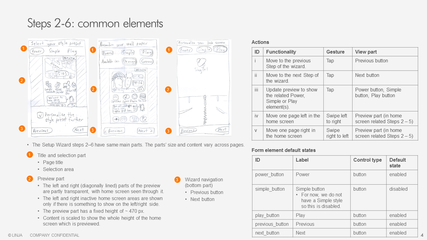 Functional specifications, screenshot 2/2