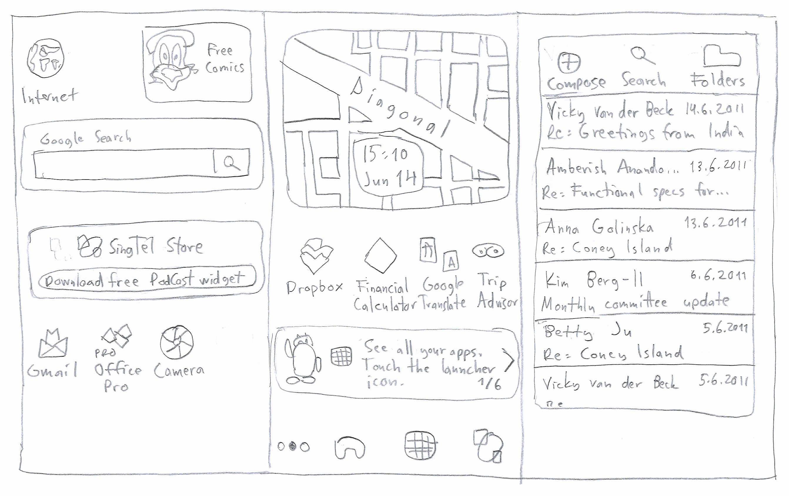 Paper Prototyping, sketch 2/2